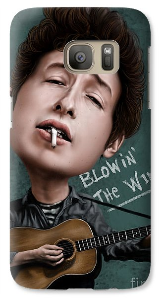 Young Bob Dylan Galaxy Case by Andre Koekemoer