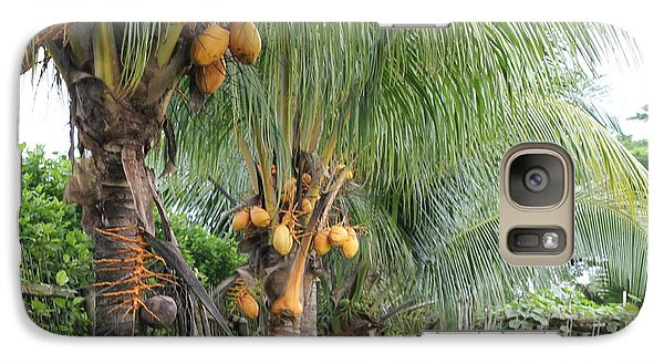 Galaxy Case featuring the photograph Young Coconut Trees by Cyril Maza