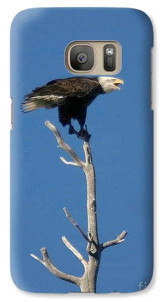 Galaxy Case featuring the photograph Young Eagle by Mitch Shindelbower