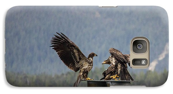 Galaxy Case featuring the photograph Young Eagles by Timothy Latta