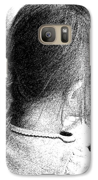 Galaxy Case featuring the photograph Young Girl by Jennifer Muller