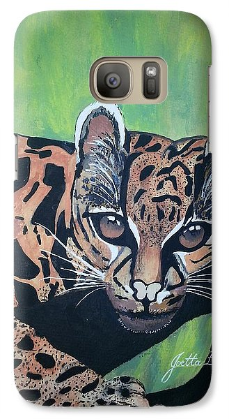 Galaxy Case featuring the painting Young In Wild by Joetta Beauford