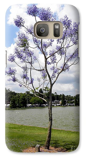 Galaxy Case featuring the photograph Young Jacaranda Tree by Terri Mills