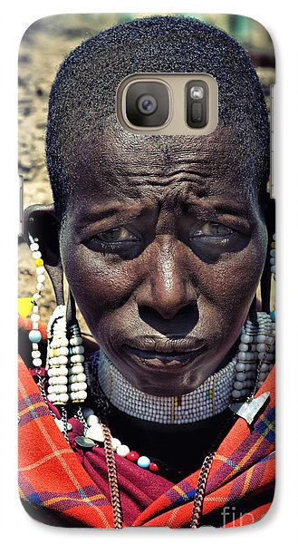 Galaxy Case featuring the photograph Portrait Of Young Maasai Woman At Ngorongoro Conservation Tanzania by Amyn Nasser