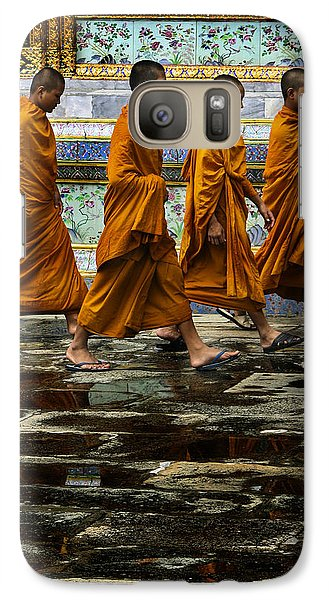 Galaxy Case featuring the photograph Young Monks by Rob Tullis