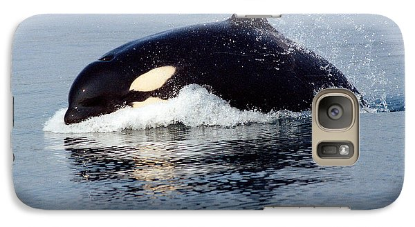 Galaxy Case featuring the photograph Young Orca Off The San Juan Islands Washington 1986 by California Views Mr Pat Hathaway Archives