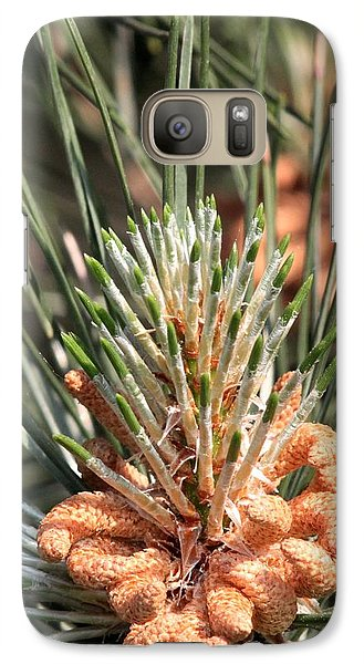 Galaxy Case featuring the photograph Young Pine Cone  by Ramabhadran Thirupattur