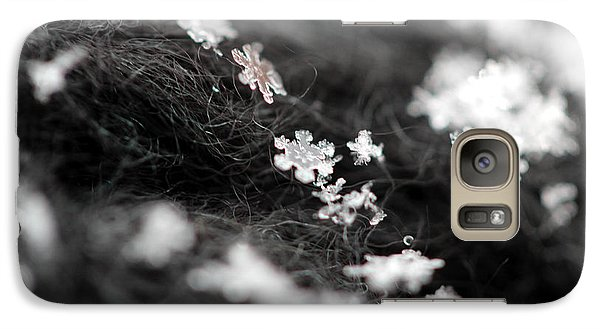 Galaxy Case featuring the photograph Young Snowflake by Stacey Zimmerman