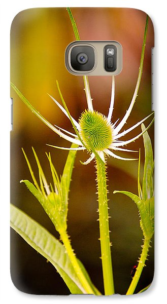 Galaxy Case featuring the photograph Young Thistle by Janis Knight