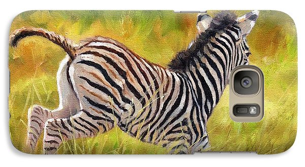 Young Zebra Galaxy Case by David Stribbling