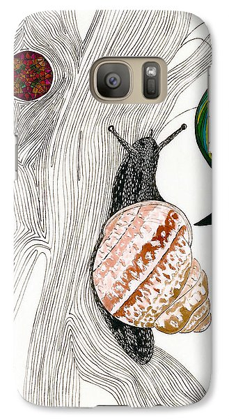 Galaxy Case featuring the drawing Your Garden Snail by Dianne Levy