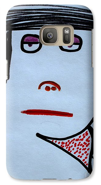 Galaxy Case featuring the drawing Your Neighbor by Bill OConnor