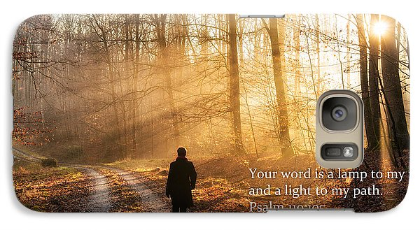Your Word Is A Light To My Path Bible Verse Quote Galaxy S7 Case by Matthias Hauser