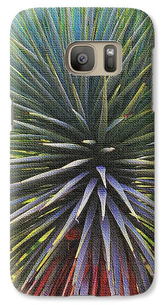 Galaxy Case featuring the photograph Yucca At The Arboretum by Tom Janca