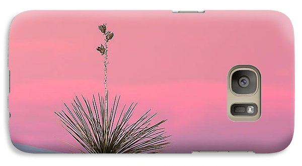 Galaxy Case featuring the photograph Yucca On Pink And White by Kristal Kraft