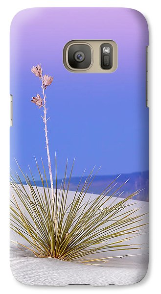 Galaxy Case featuring the photograph Yucca Pink And Blue by Kristal Kraft