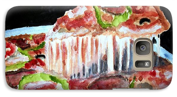 Galaxy Case featuring the painting Yummy Pizza Pie by Carol Grimes
