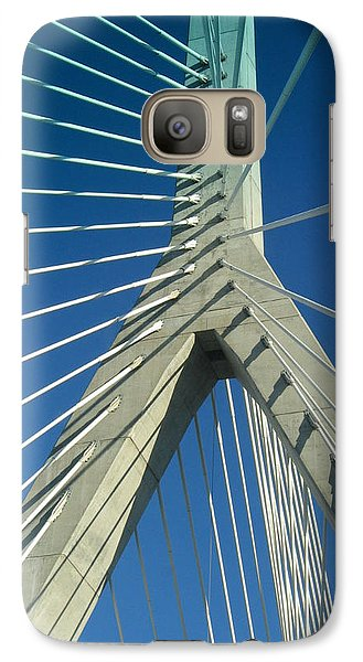 Galaxy Case featuring the photograph Zakim Bridge Boston by Mary Bedy