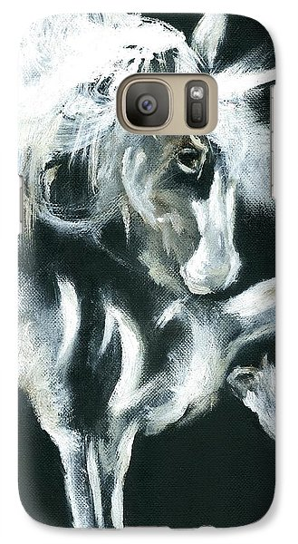 Galaxy Case featuring the painting Unicorn by Barbie Batson