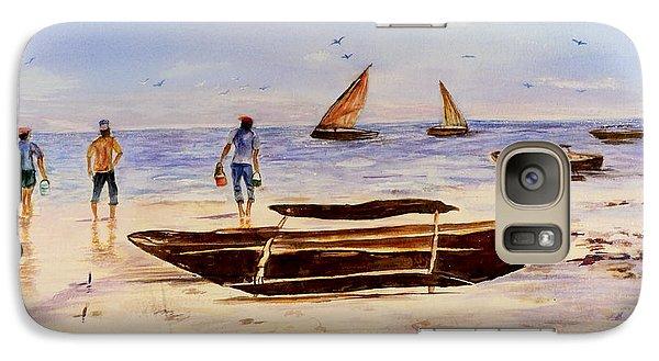 Galaxy Case featuring the painting Zanzibar Forzani Beach by Sher Nasser
