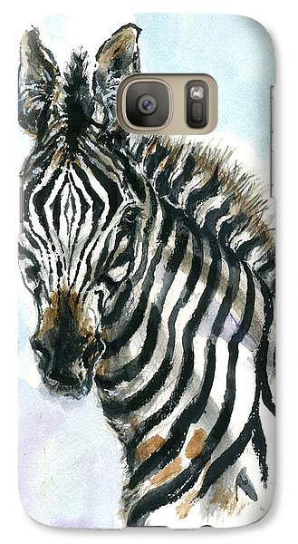 Galaxy Case featuring the painting Zebra 1 by Mary Armstrong