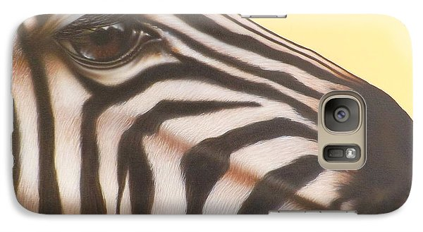 Galaxy Case featuring the painting Zebra by Darren Robinson