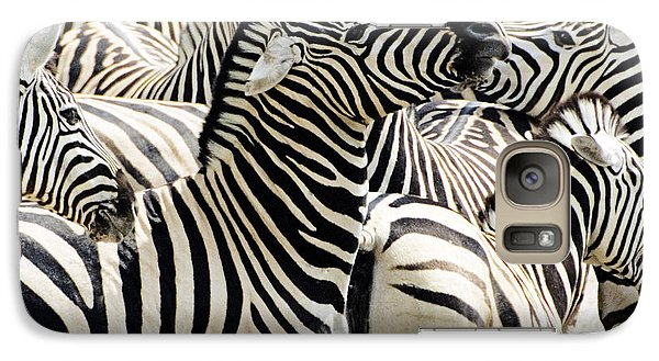 Galaxy Case featuring the photograph Zebra Gathering by Dennis Cox WorldViews