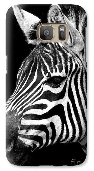 Galaxy Case featuring the photograph Zebra by Gunnar Orn Arnason