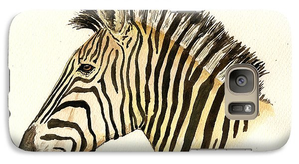 Zebra Galaxy S7 Case - Zebra Head Study by Juan  Bosco