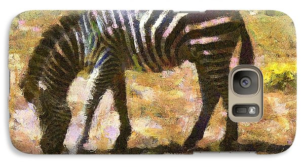 Galaxy Case featuring the digital art Zebra In The Wild by Carrie OBrien Sibley