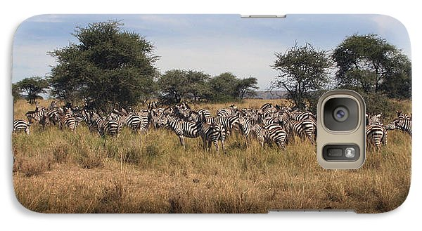 Galaxy Case featuring the photograph Zebra by Joseph G Holland
