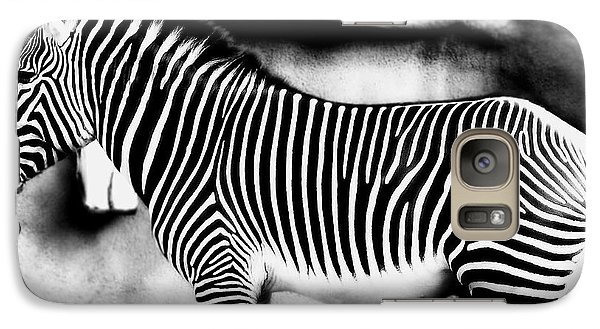 Galaxy Case featuring the photograph Zebra by Kristine Merc