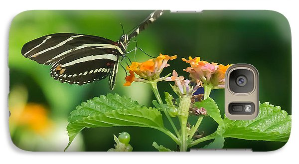 Galaxy Case featuring the photograph Zebra Longwing by Jane Luxton