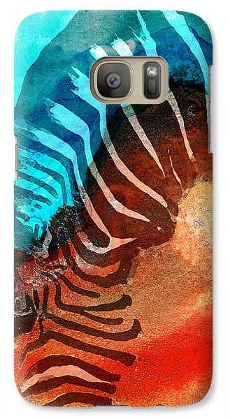 Zebra Galaxy S7 Case - Zebra Love - Art By Sharon Cummings by Sharon Cummings