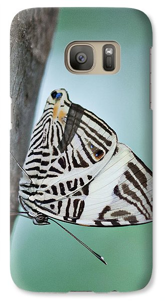 Galaxy Case featuring the photograph Zebra Mosiac Butterfly by Zoe Ferrie