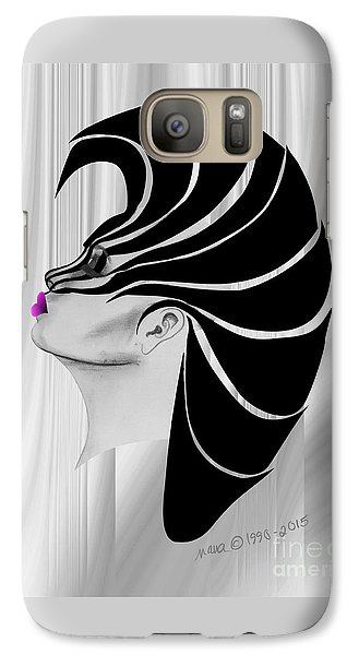 Galaxy Case featuring the drawing Zebra Punk by Marianne NANA Betts