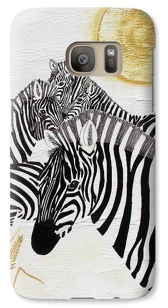 Galaxy Case featuring the painting Zebra Quintet by Stephanie Grant