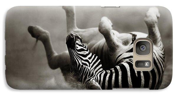 Zebra Rolling Galaxy Case by Johan Swanepoel