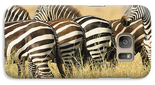 Galaxy Case featuring the photograph Zebra Stripes by Phyllis Peterson