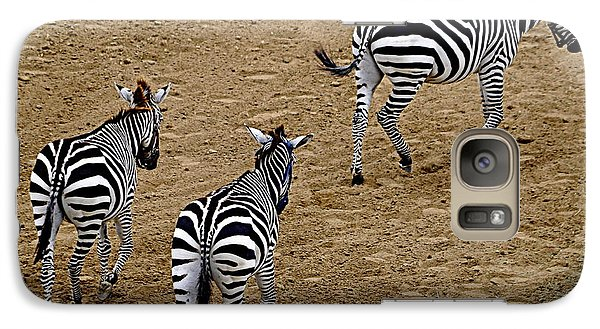 Galaxy Case featuring the photograph Zebra Tails by AJ  Schibig