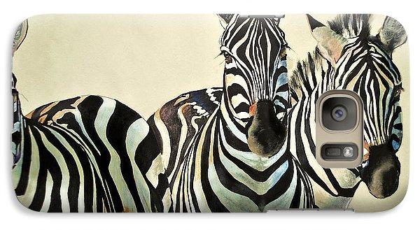 Galaxy Case featuring the drawing Zebras Drawing by Maja Sokolowska
