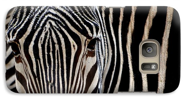 Galaxy Case featuring the photograph Zebras Face To Face by Nadalyn Larsen