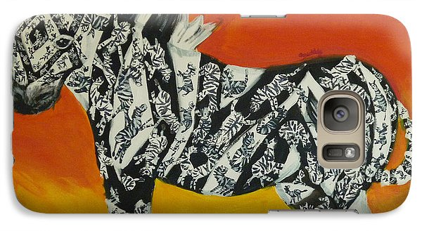 Galaxy Case featuring the painting Zebras In Stripes by Cassandra Buckley
