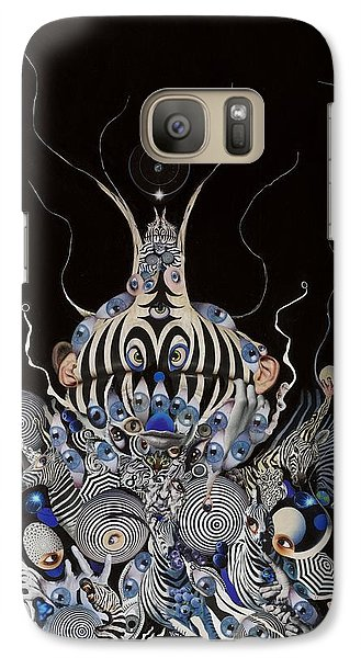 Galaxy Case featuring the mixed media Zebratiki by Douglas Fromm