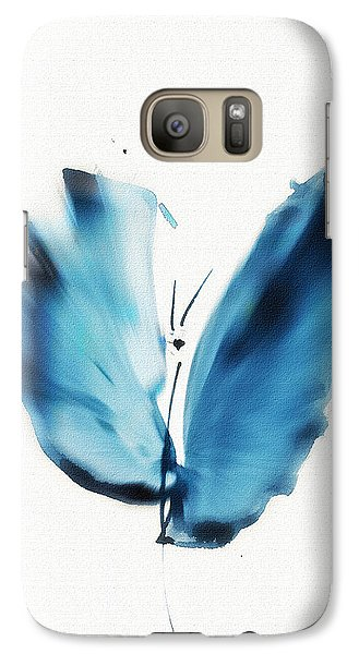 Galaxy Case featuring the mixed media Zen Butterfly by Frank Bright