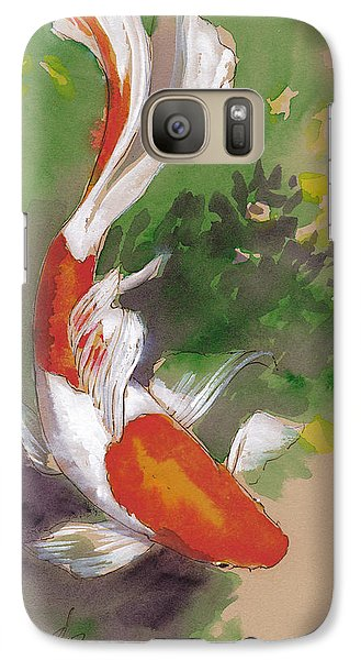 Zen Comet Goldfish Galaxy S7 Case by Tracie Thompson