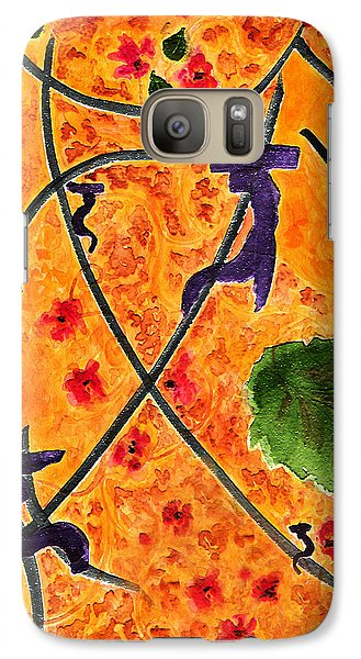 Galaxy Case featuring the painting Zen Garden by Paula Ayers