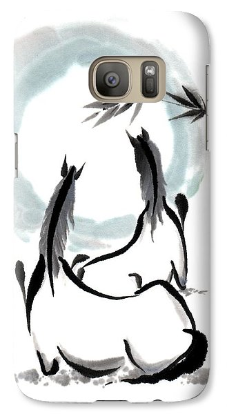 Galaxy Case featuring the painting Zen Horses Into The Vortex by Bill Searle
