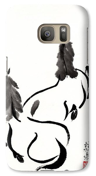 Galaxy Case featuring the painting Zen Horses Retired by Bill Searle