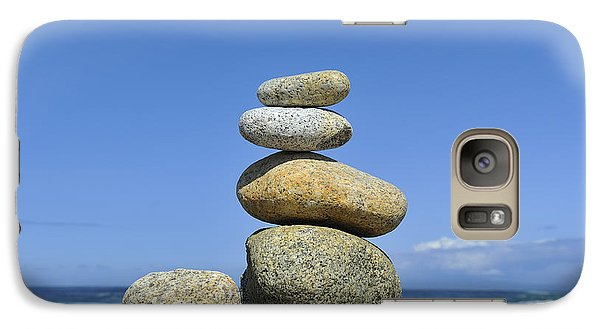 Galaxy Case featuring the photograph Zen Stones I by Marianne Campolongo